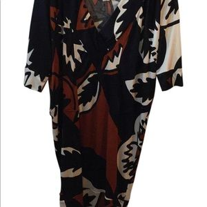 Diane Furstenberg unmistakable style dress.